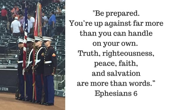 Be prepared Ephesians 6 - Tyler in color guard