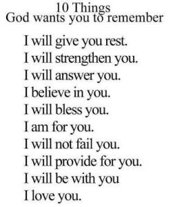 10 things God will do