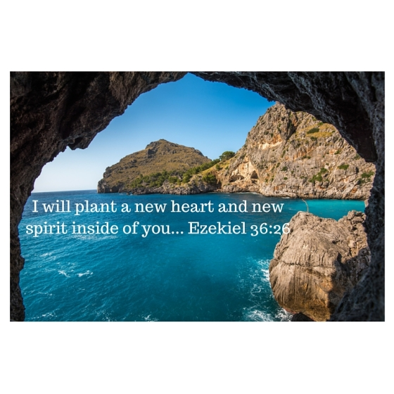 I will plant a new heart and new spirit inside of you... Ezekiel 36-26