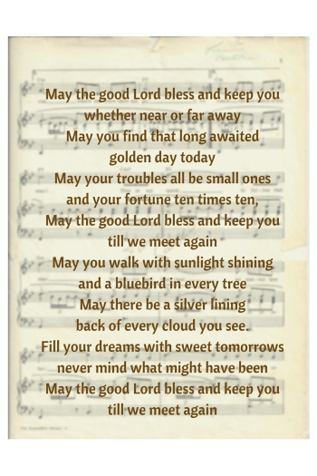May the good lord bless - sheet music